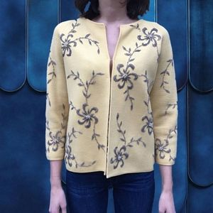 Vintage 1970's Yellow Cardigan